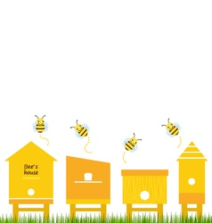 Bee houses spring collection vector image