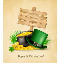 Saint patricks day background with a sign clover vector