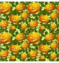 Seamless background with pumpkins vector
