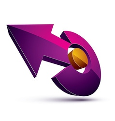 3d abstract symbol with an arrow business growth vector