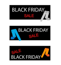 Trousers on a black friday sale banners vector