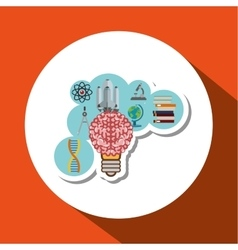 Colorful science design over white background vector image
