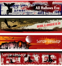 Halloween web vector image