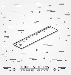 Isometric ruler on white backgroundfor web design vector
