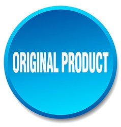 Original product blue round flat isolated push vector