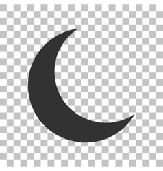Moon sign  dark gray icon on vector