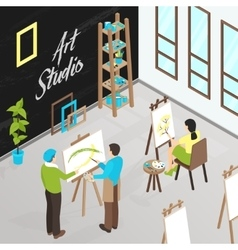 Art studio isometric vector
