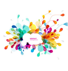 Abstract colored background with leafs and vector