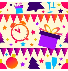 Bright christmas seamless background vector