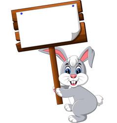 Cartoon happy rabbit vector
