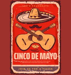 Cinco de mayo mexican sketch party poster vector
