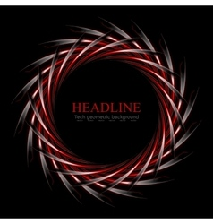 Dark red and black concept round logo design vector