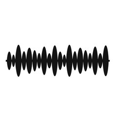 equalizer design icon simple black style vector image vector image
