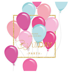 Festive holiday template with colorful balloons vector