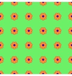 Flowers geometric seamless pattern 1803 vector image vector image