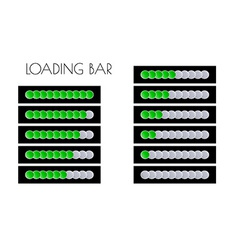 Green loading bars vector