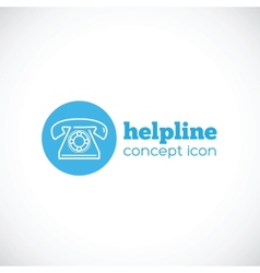 Helpline abstract concept icon or symbol vector
