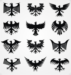 Heraldic Eagle Silhouettes vector image vector image