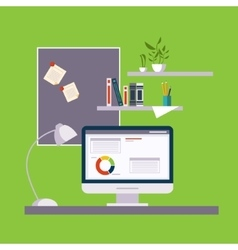 Home freelance office vector