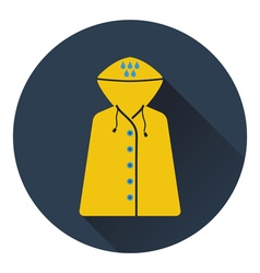 Icon of raincoat vector image vector image