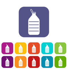 large bottle of water icons set vector image vector image