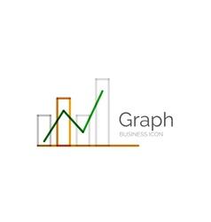 Line minimal design logo graph vector image