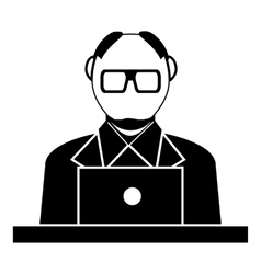 Museum security guard icon simple style vector image vector image