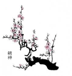 Sakura blossom vector image vector image