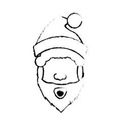 Santa claus christmas character icon vector