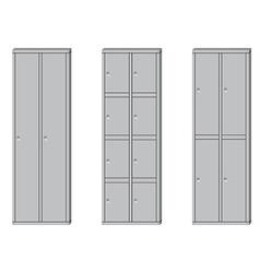 School lockers set vector