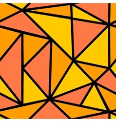 Seamless pattern with orange triangle vector image vector image