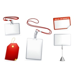 Set of empty tags vector image