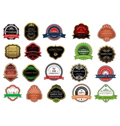 Set of promotion badges for retail business vector image vector image