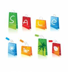 shopping bags for you design vector image vector image
