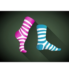 Stripped socks vector
