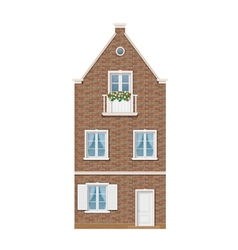 traditional Dutch town house vector image vector image