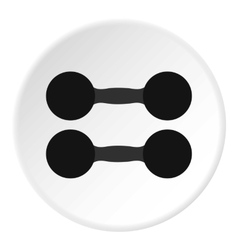 Two dumbbell icon flat style vector image