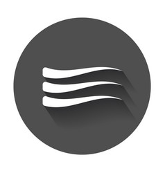 Wave icon flat wave with long shadow vector