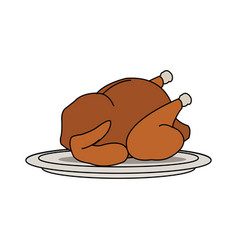 whole chicken icon image vector image