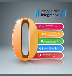 Zero infographic number icon vector