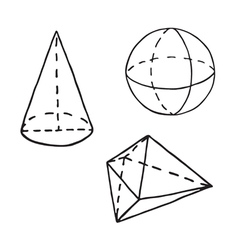 Geometry doodle outlined vector