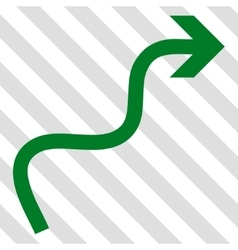 Curve arrow icon vector
