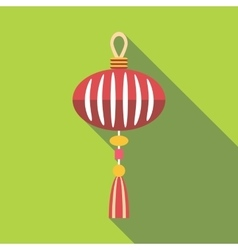 Asian lantern icon flat style vector