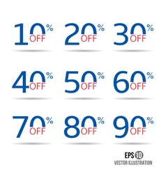 Sale and discount tag set price off badge design vector