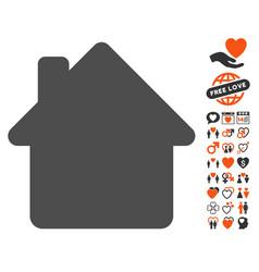 House icon with valentine bonus vector