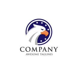 eagle head design vector image
