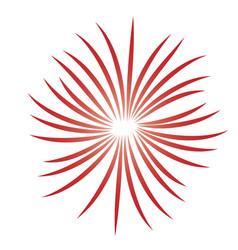 fireworks burst icon vector image