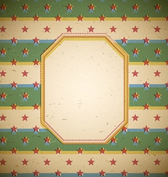 Retro frame with stars vector image