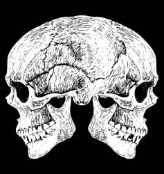 Two faced skull vector