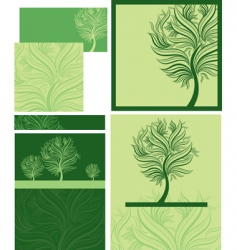 Spring trees vector
